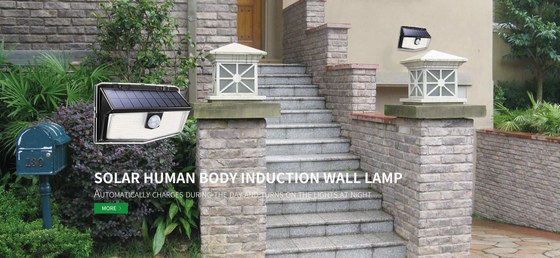 SOLAR HUMAN BODY INDUCTION WALL LAMP