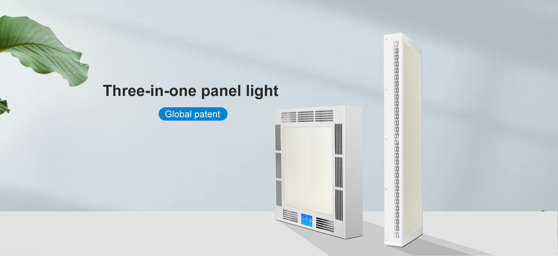 Three-in-one panel light
